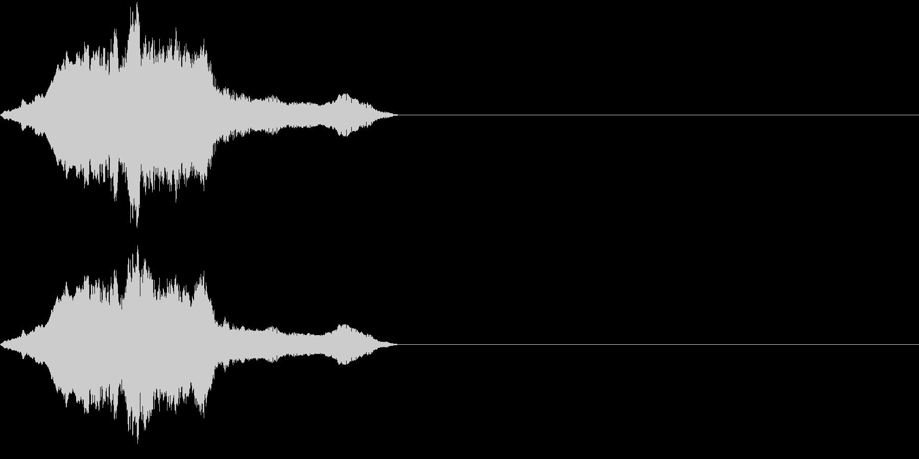 コツメカワウソの鳴き声(甘えるような声)の未再生の波形