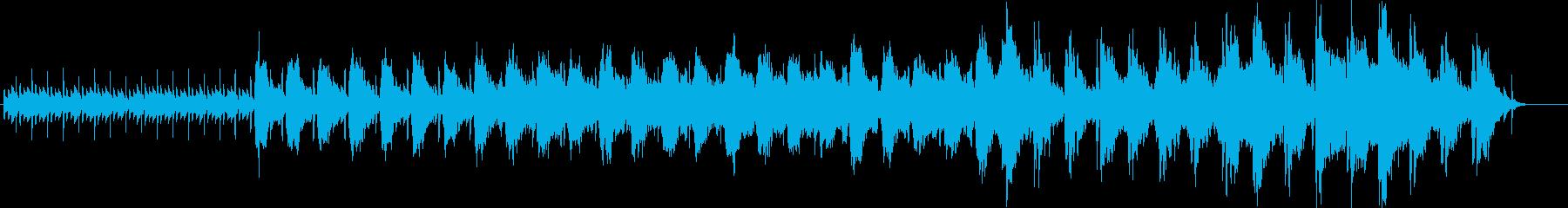 夜明けをイメージしたピアノストリングス曲の再生済みの波形