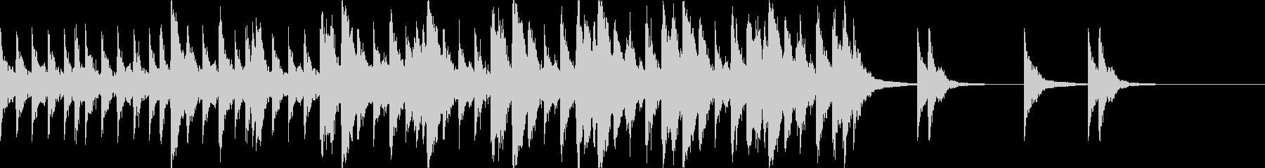 ハリウッド系の戦闘シーンの曲2の未再生の波形