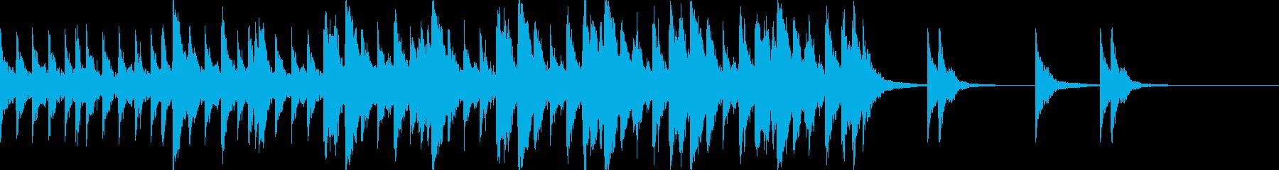 ハリウッド系の戦闘シーンの曲2の再生済みの波形