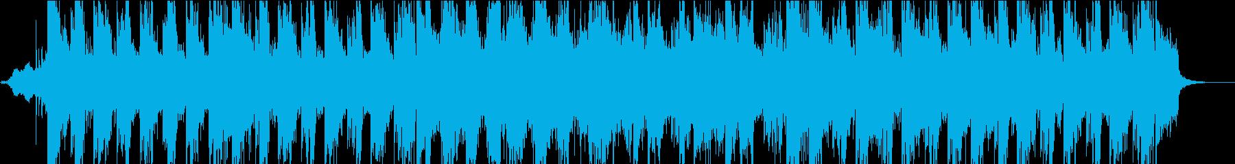 ストリングスのポップなテクノの再生済みの波形
