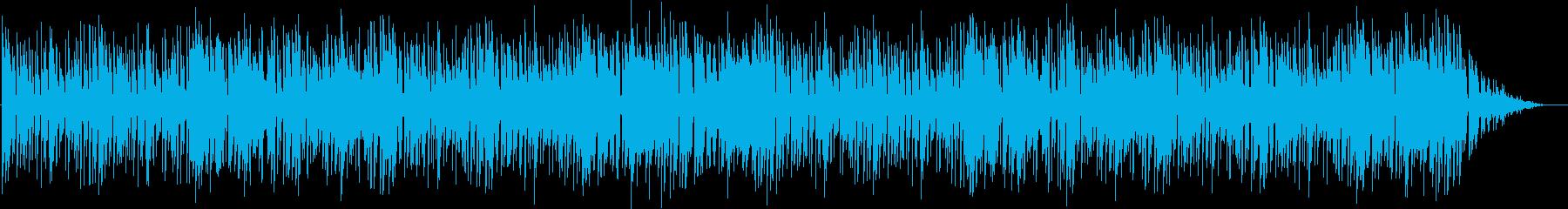 色んな音が入り混じるエレクトロポップスの再生済みの波形