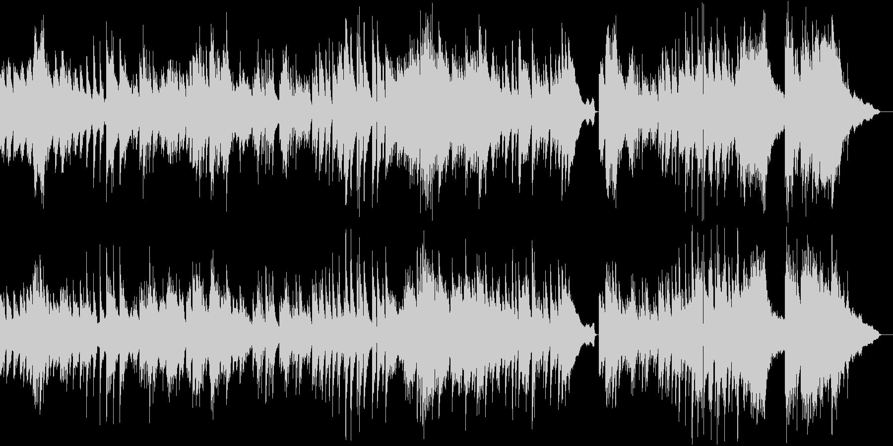 生ピアノとアンビエントの印象的なバラードの未再生の波形