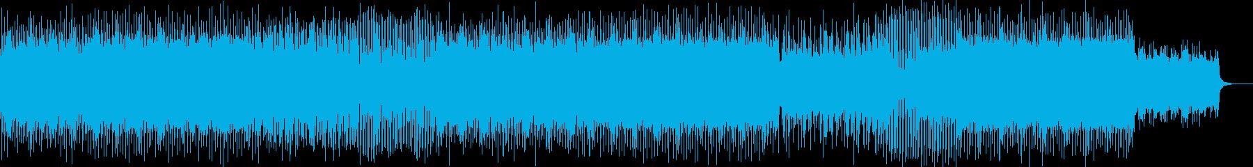 ゲームのラストステージ風のロック曲の再生済みの波形