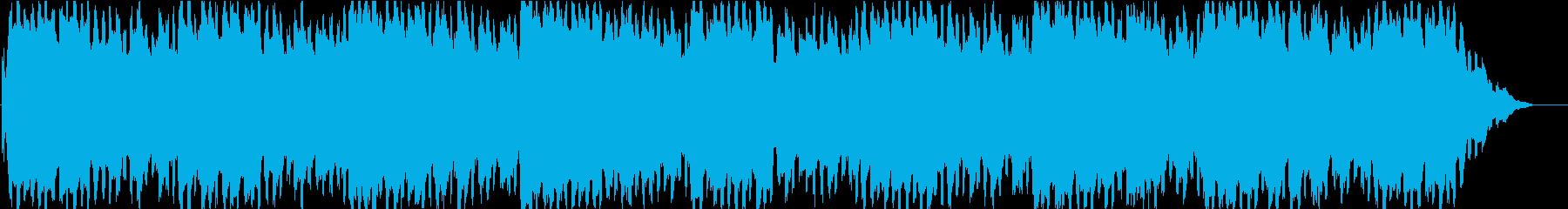 ホラー用の曲の再生済みの波形