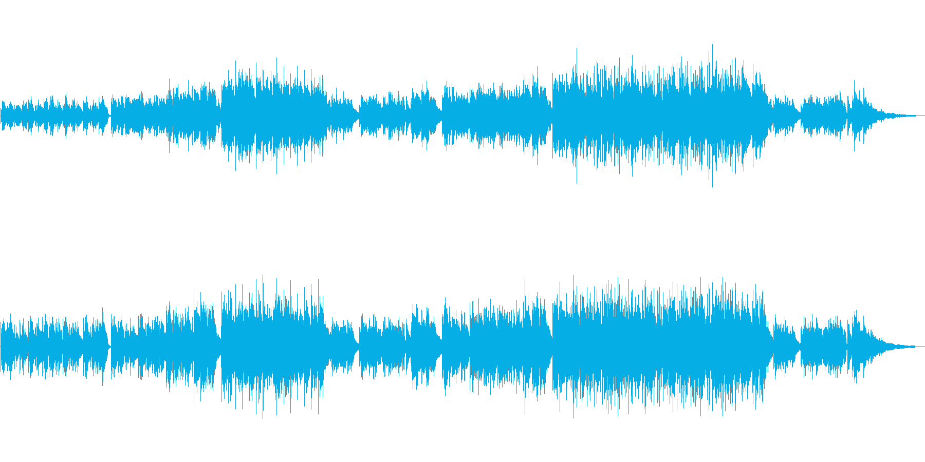 【メロ・リズム抜き】ノスタルジックなアコの再生済みの波形