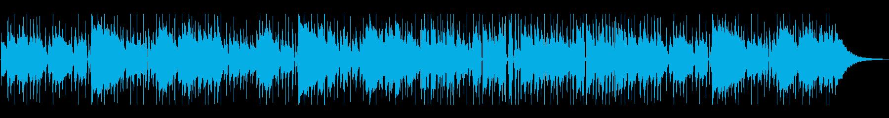ゆるっとリラックスした雰囲気のBGMの再生済みの波形