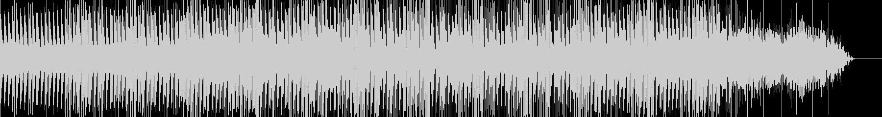 不思議なコード感のテクノの未再生の波形