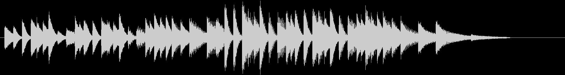 四季より「春」モチーフのピアノジングルDの未再生の波形