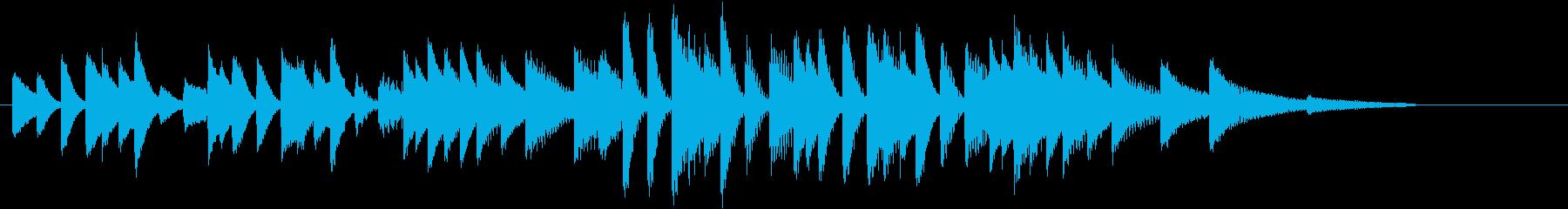 四季より「春」モチーフのピアノジングルDの再生済みの波形