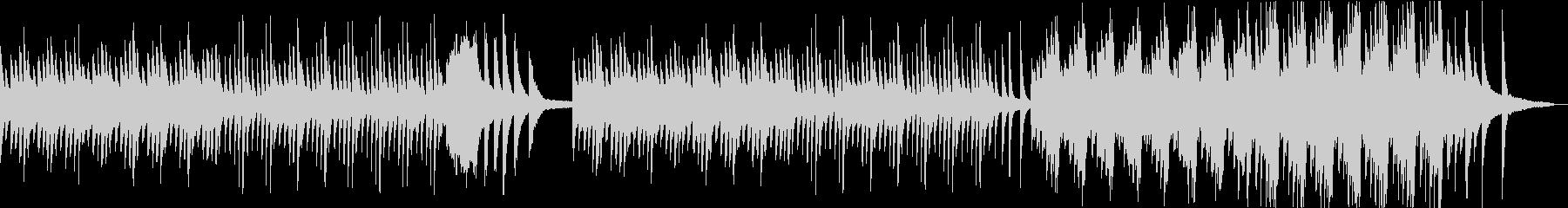 水面の波紋のように揺れたピアノ曲の未再生の波形