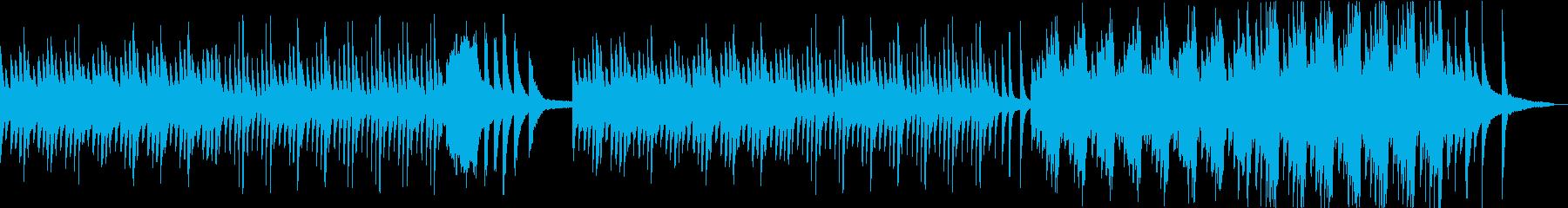 水面の波紋のように揺れたピアノ曲の再生済みの波形