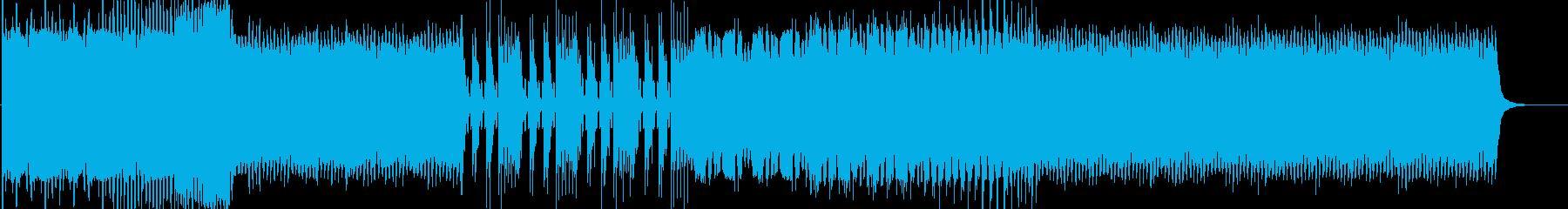 壮大でエモい4つ打ちEDMの再生済みの波形