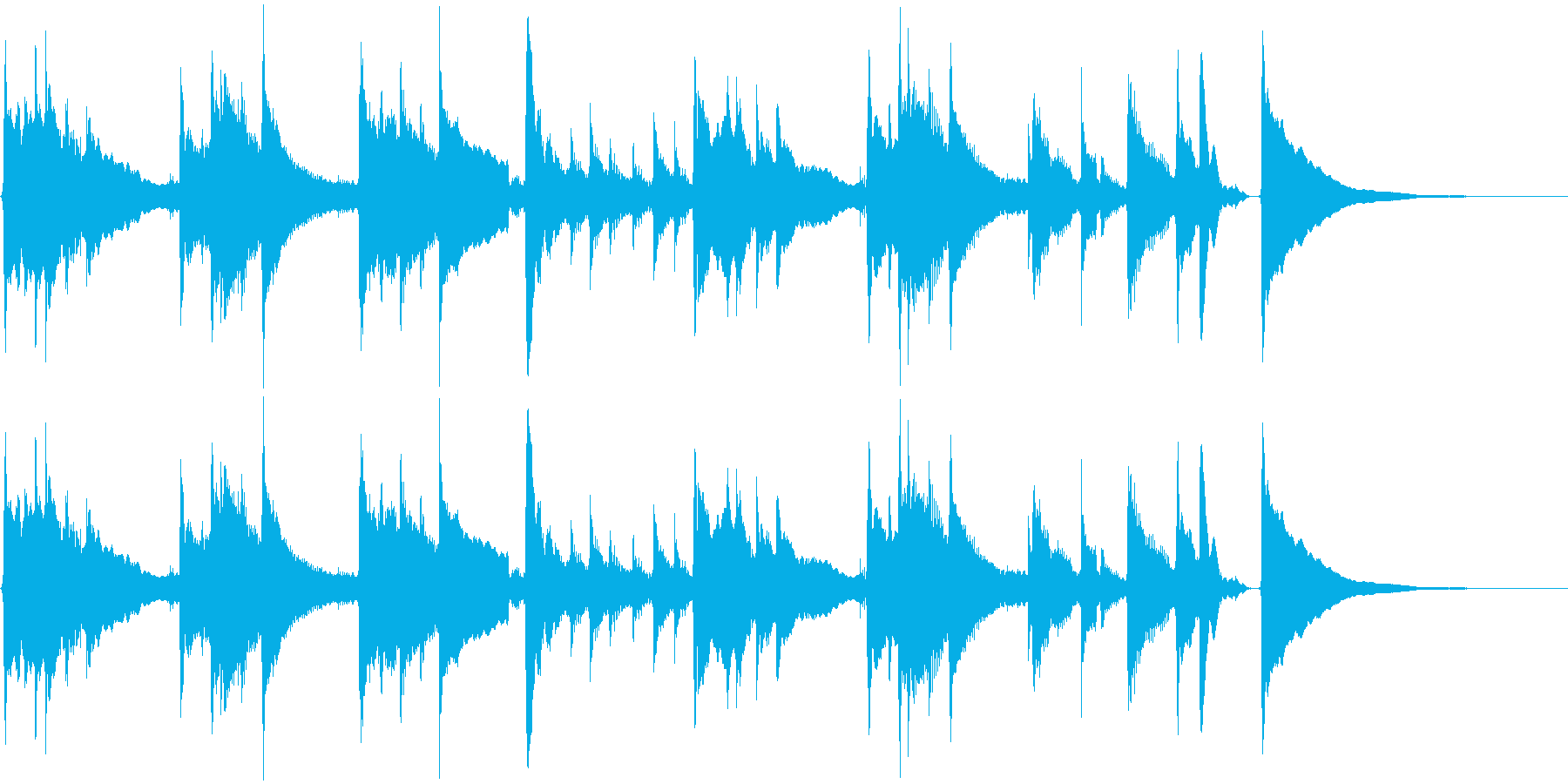 アコギ42/チルアウト、30秒、生音の再生済みの波形