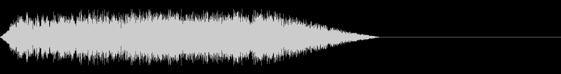 エレキギターのピックスクラッチ音の未再生の波形
