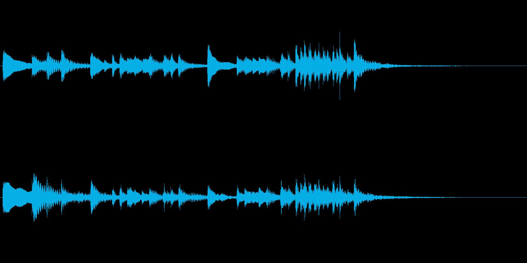 わくわく楽しそうな 木琴のアイキャッチの再生済みの波形