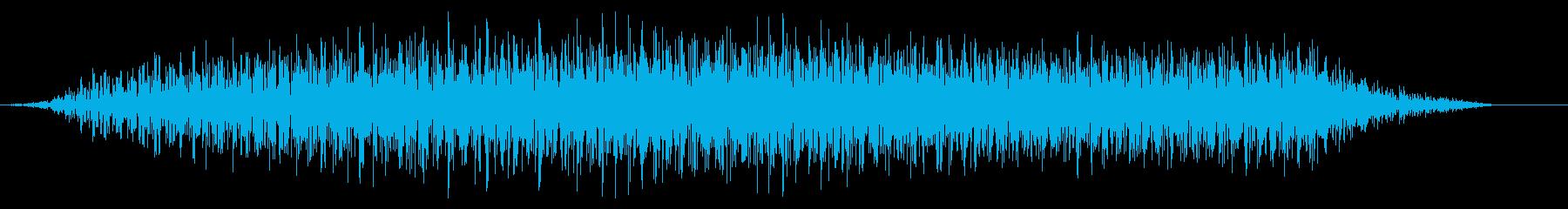 シュイーン(開く 伸びる 大きくなる音)の再生済みの波形