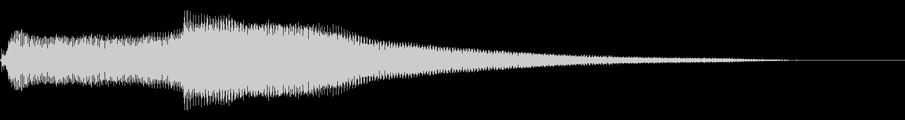 近未来的でSF的な音1の未再生の波形