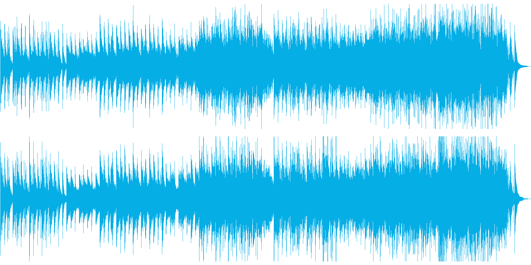 箏がメインの切ない和風三拍子楽曲の再生済みの波形