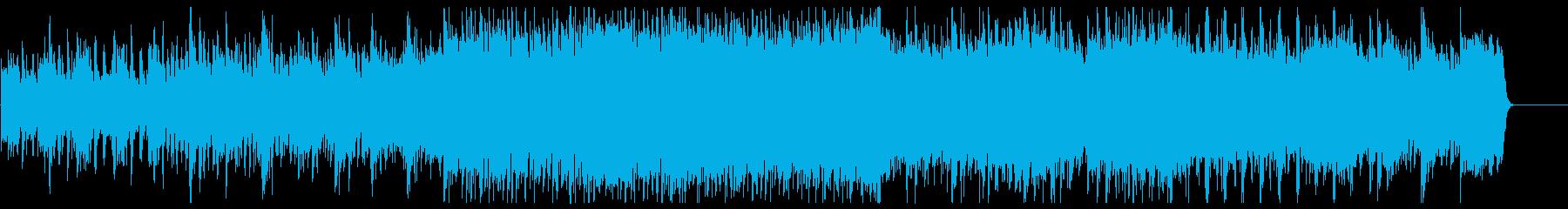 ピアノとオーケストラの疾走感のある曲の再生済みの波形
