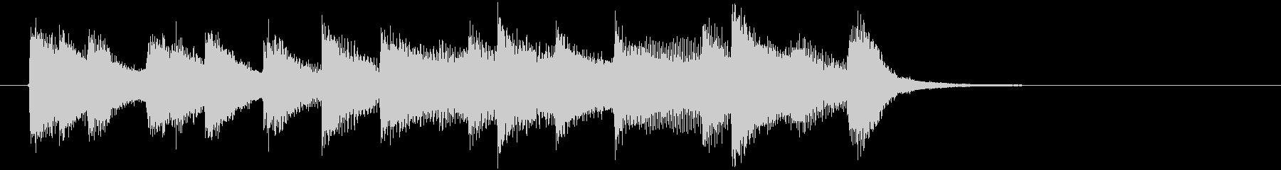 定番の聴きやすく朗らかなジングルの未再生の波形