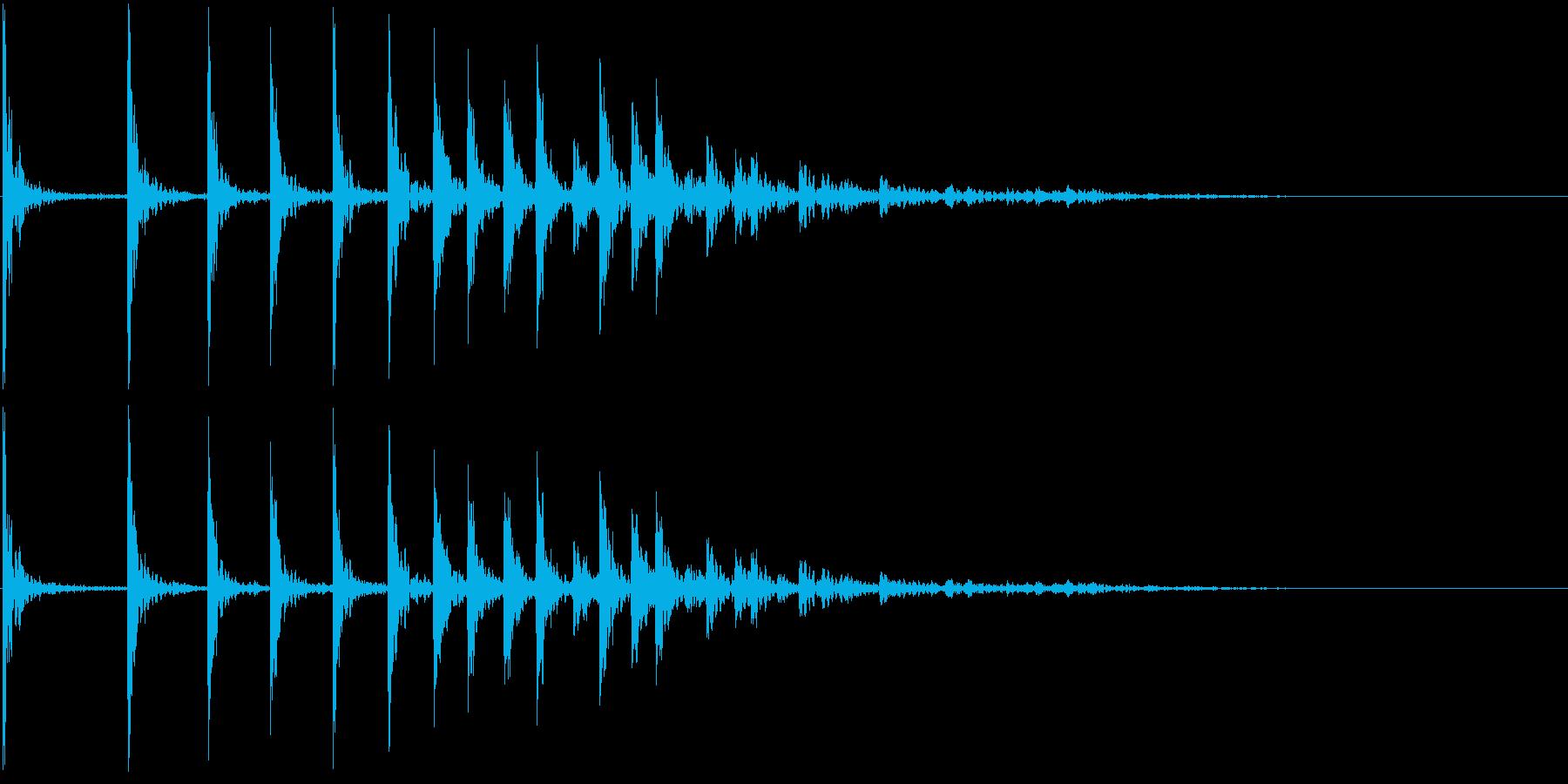 低音:バウンスアクセント、漫画コメ...の再生済みの波形