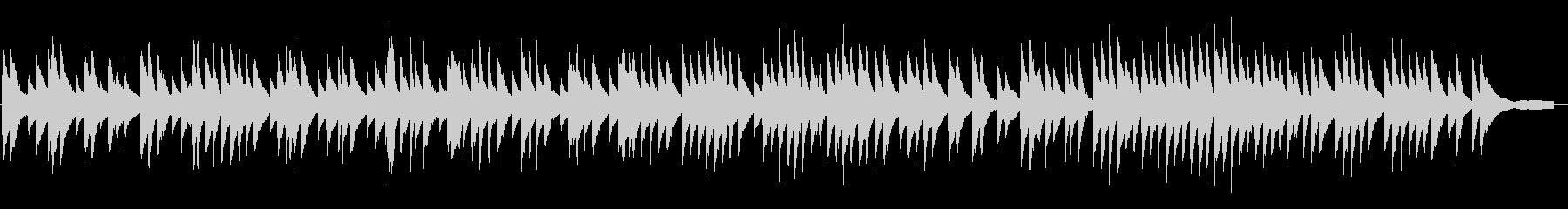 浮遊感のある即興ピアノソロの未再生の波形
