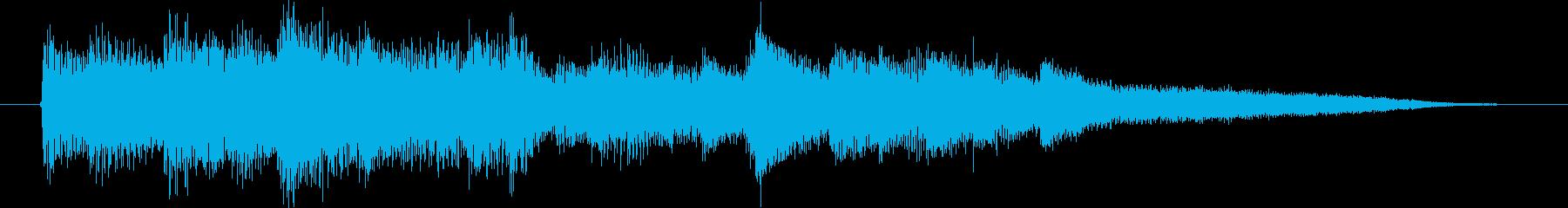 ピアノ演奏/CM前、冷静な報道のジングルの再生済みの波形