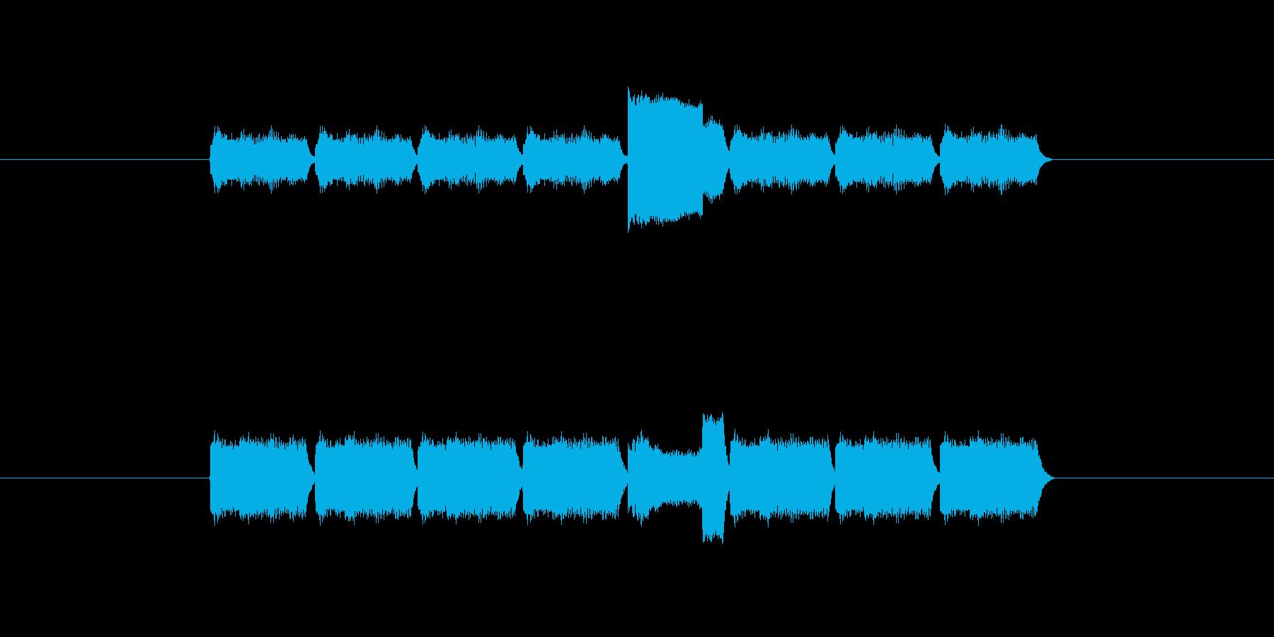 「9」を表す音のカウンターですの再生済みの波形