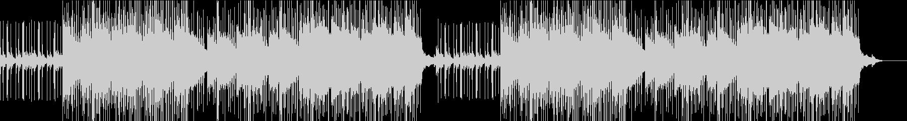 軽快なピアノが特徴的な曲の未再生の波形