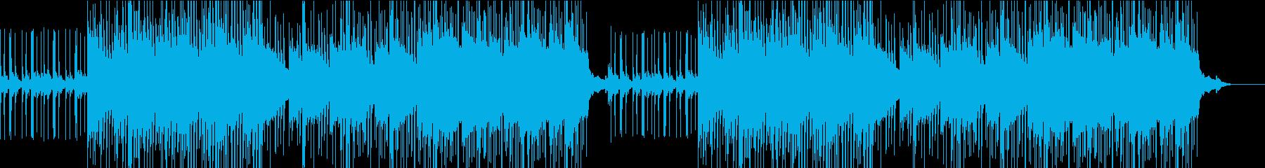 軽快なピアノが特徴的な曲の再生済みの波形
