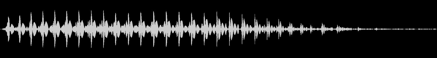 漫画オナラ、(5)低ピッチ。の未再生の波形