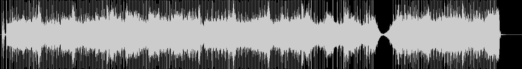 渦巻くシンセは、処理されたドラムと...の未再生の波形