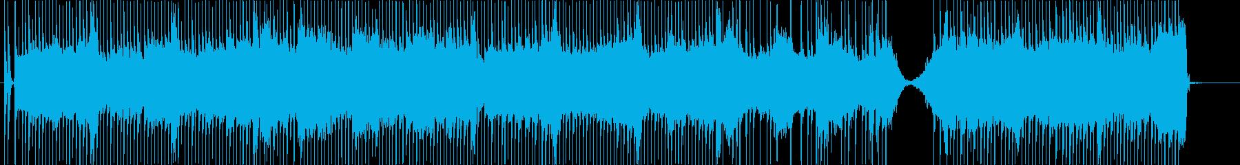 渦巻くシンセは、処理されたドラムと...の再生済みの波形