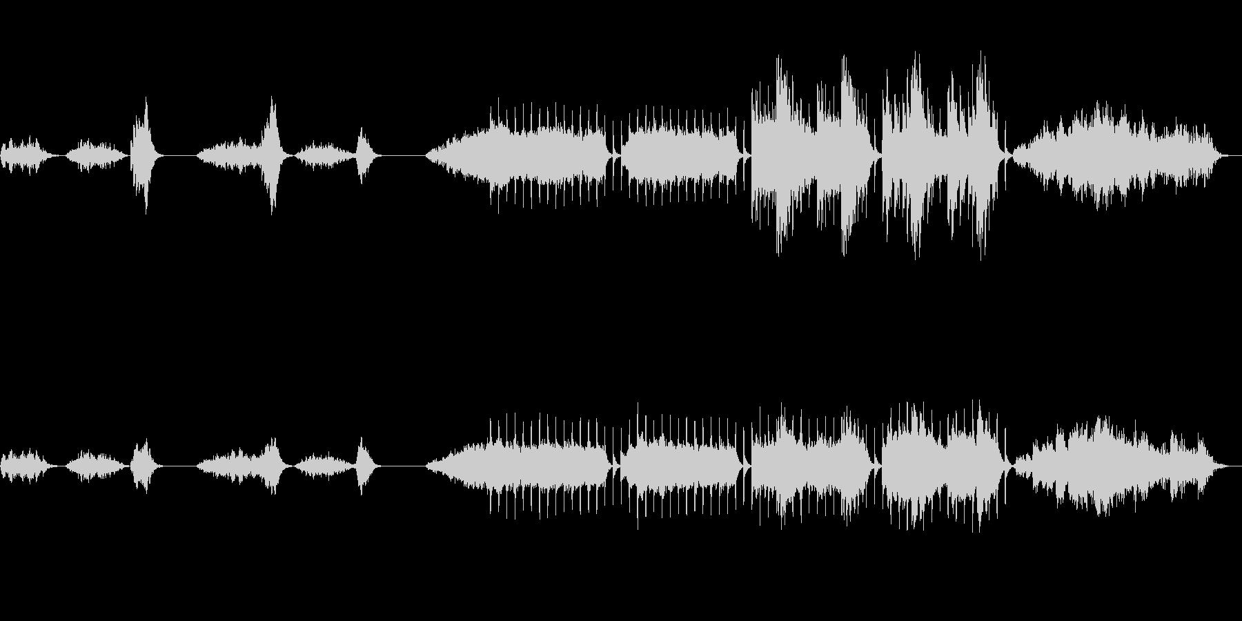 不穏なホラーBGM フルサイズの未再生の波形