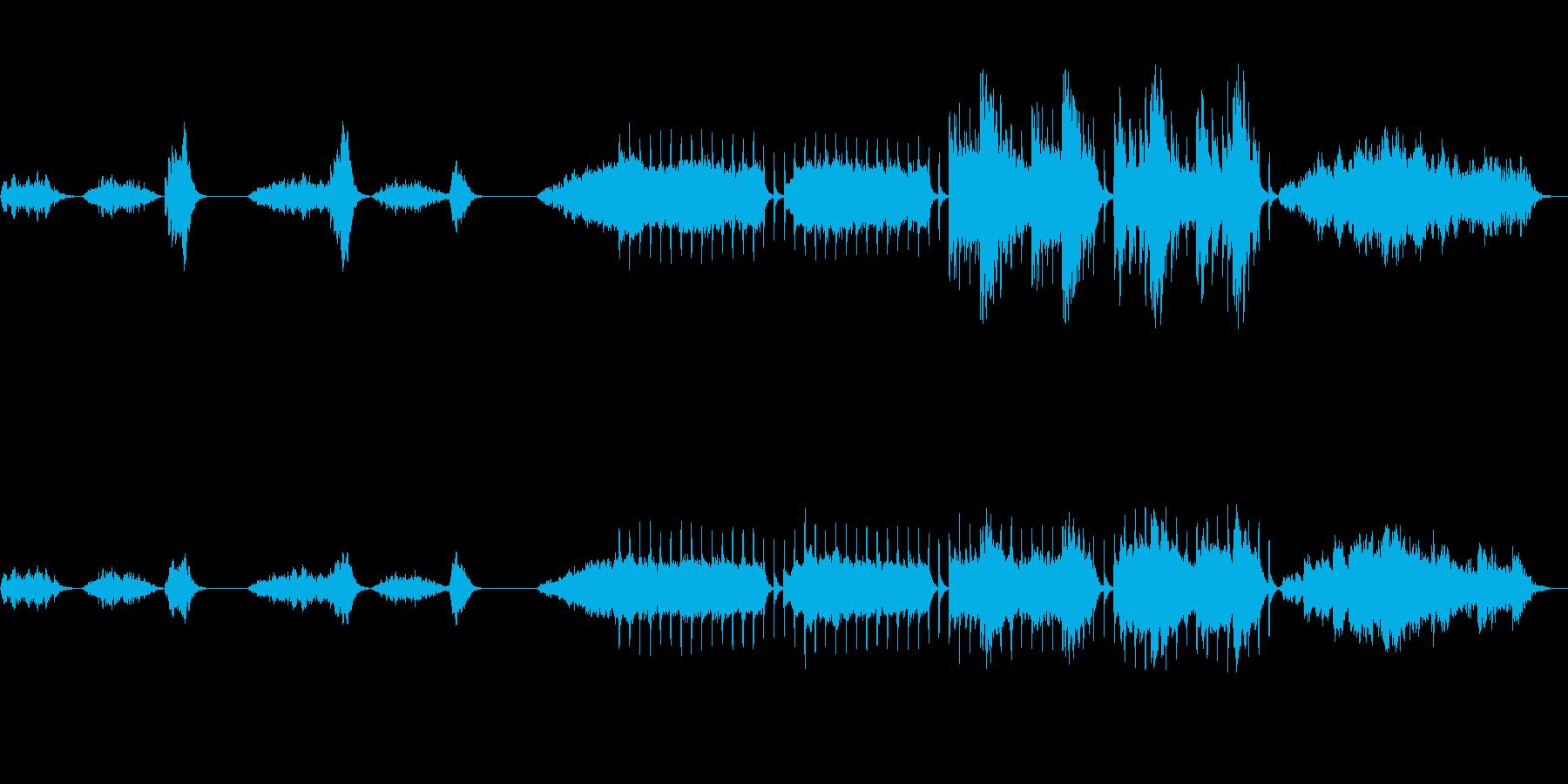 不穏なホラーBGM フルサイズの再生済みの波形