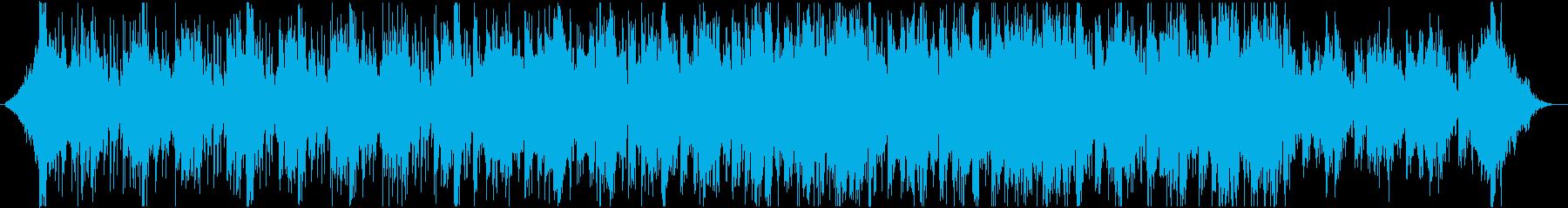 緊迫感や疾走感を演出するBGMの再生済みの波形