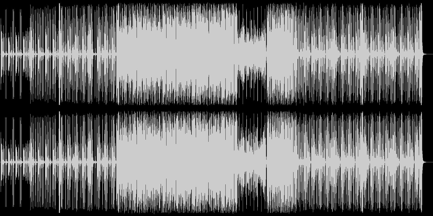 お洒落でスタイリッシュなBGMの未再生の波形