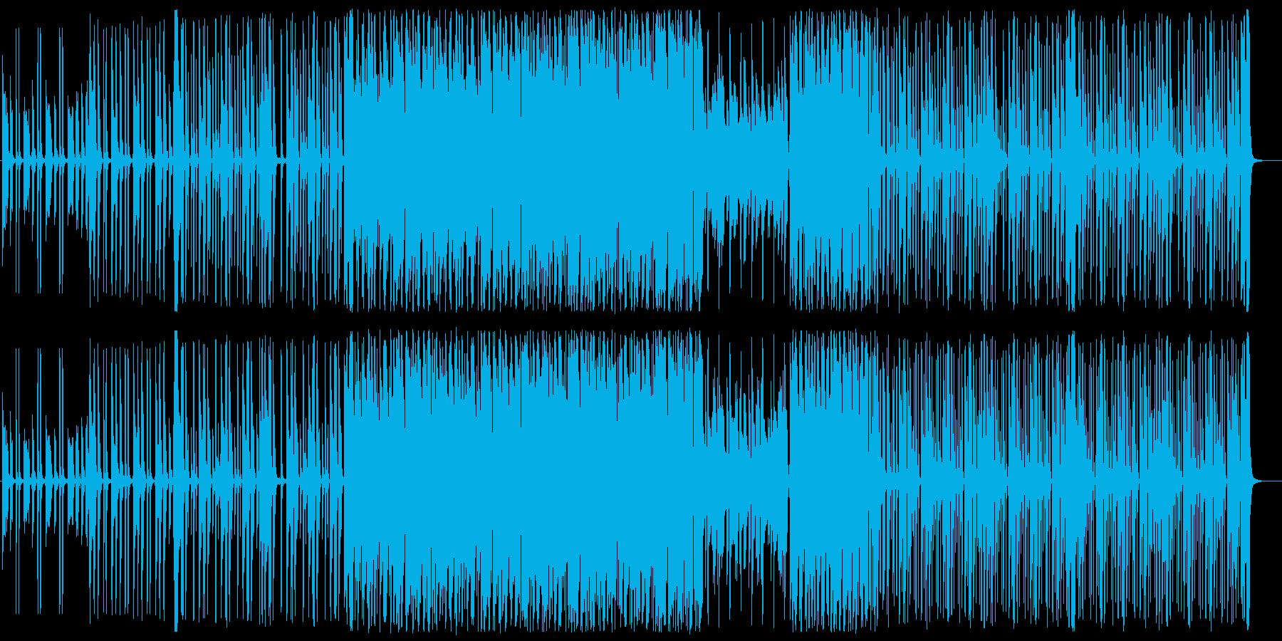 お洒落でスタイリッシュなBGMの再生済みの波形