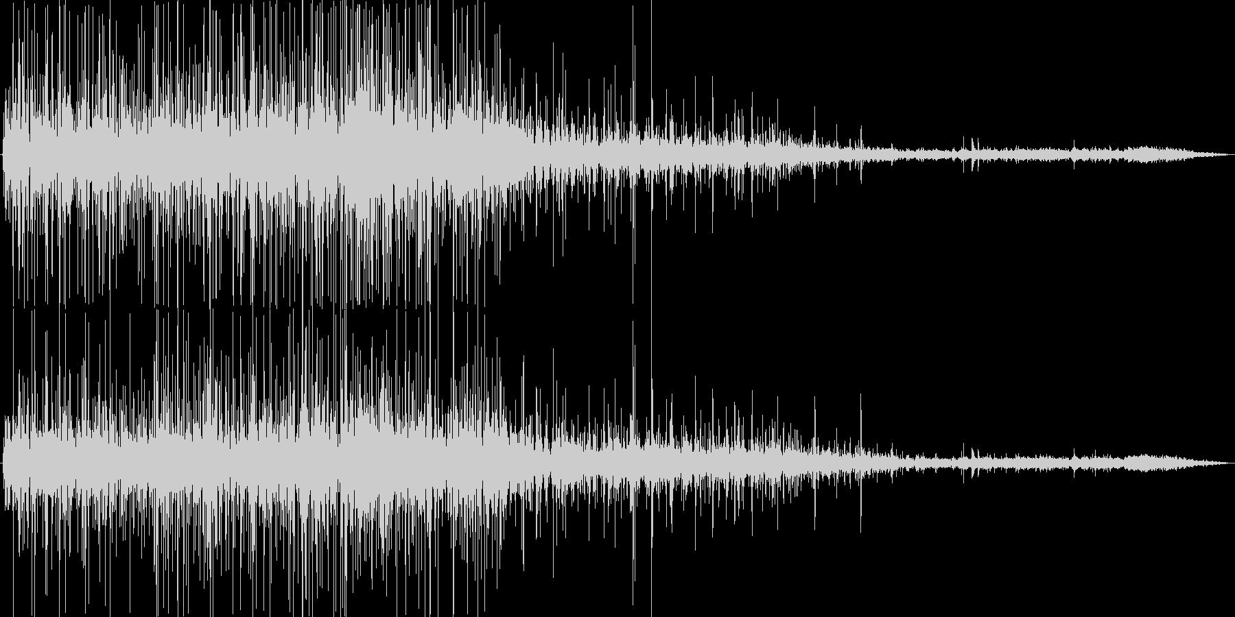 揚げ物の音の未再生の波形