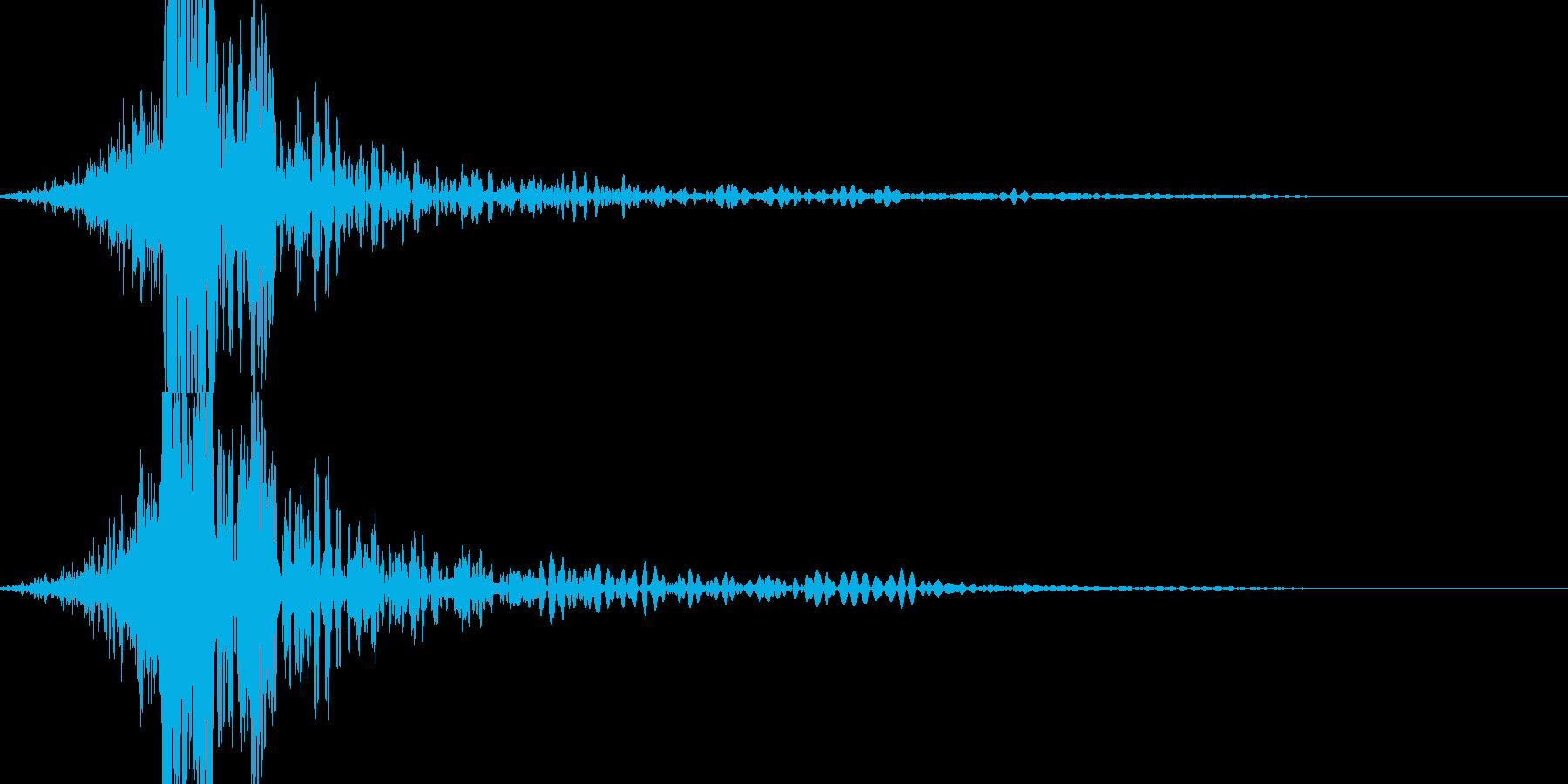シューン!ズドンツツ!! / 衝撃音の再生済みの波形