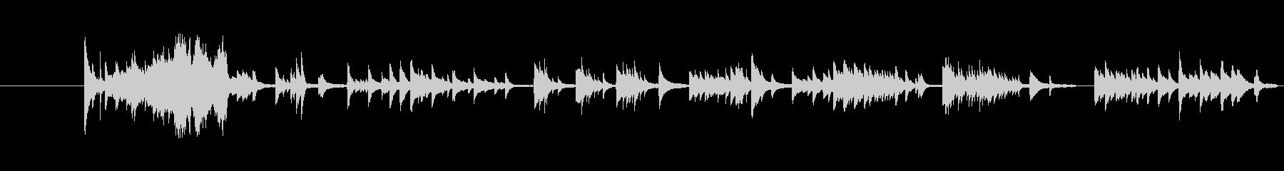 感動的で切ないピアノバラードの未再生の波形