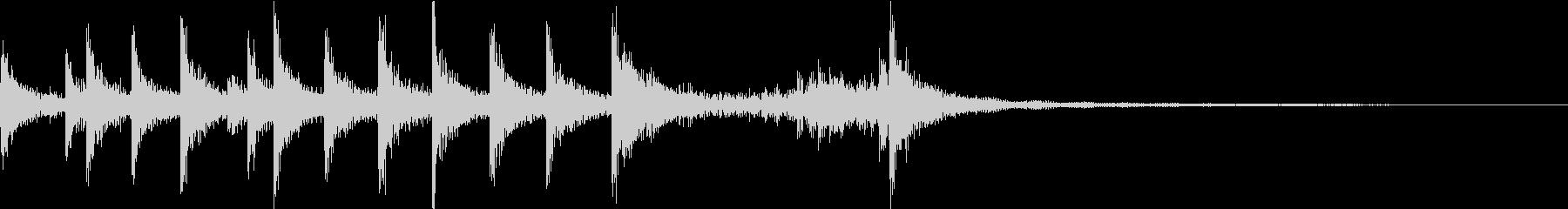 ティンパニ:ファンファーレの未再生の波形