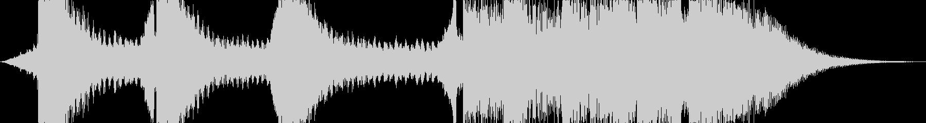サイファイのダークでSF的な衝撃音2の未再生の波形