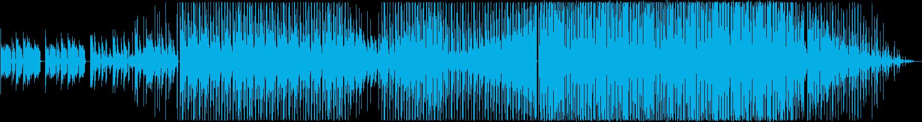 ポップダンス。アルペジエーターとシ...の再生済みの波形