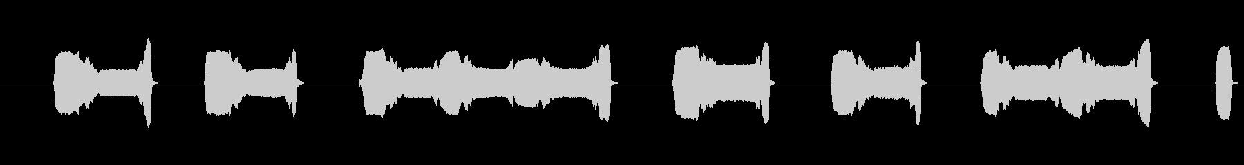 沖縄音楽オカリナトロンボーン合いの手の未再生の波形