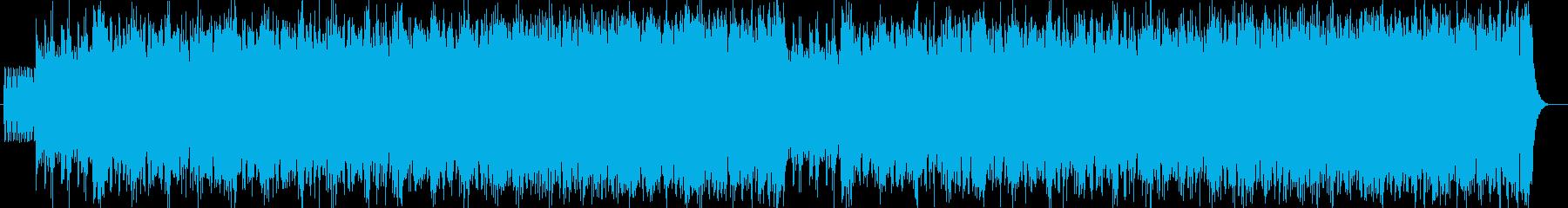 勢いのあるシンセサイザーサウンドの再生済みの波形