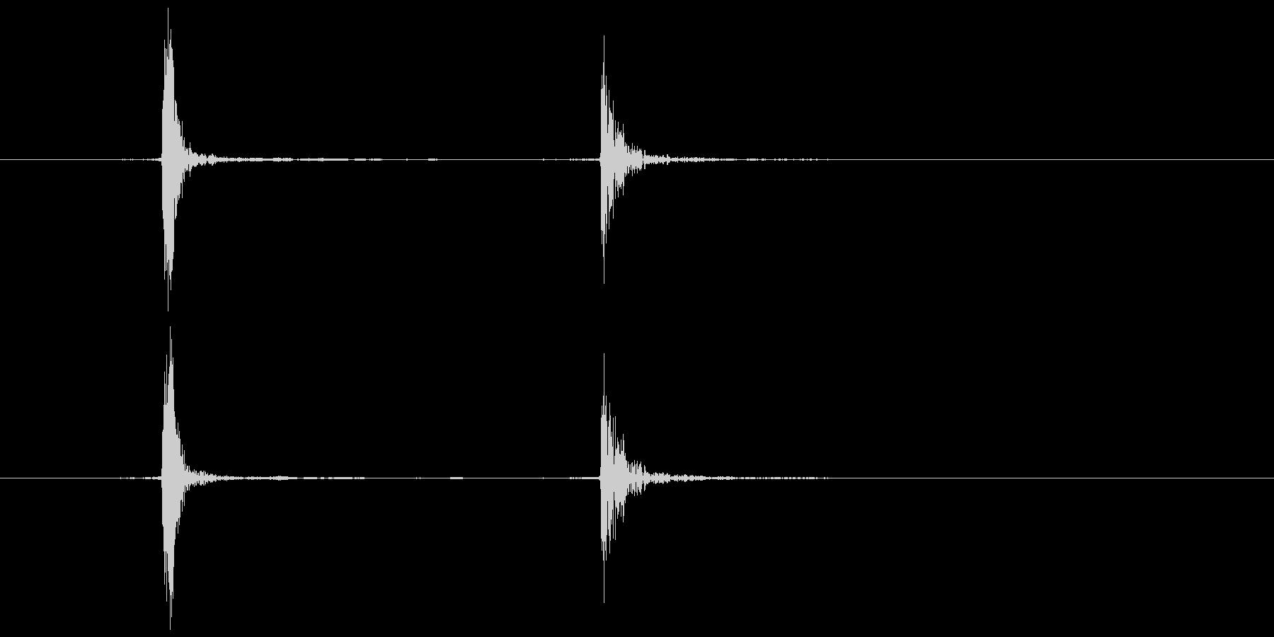 マウスのシングルクリック  (カチッ)の未再生の波形