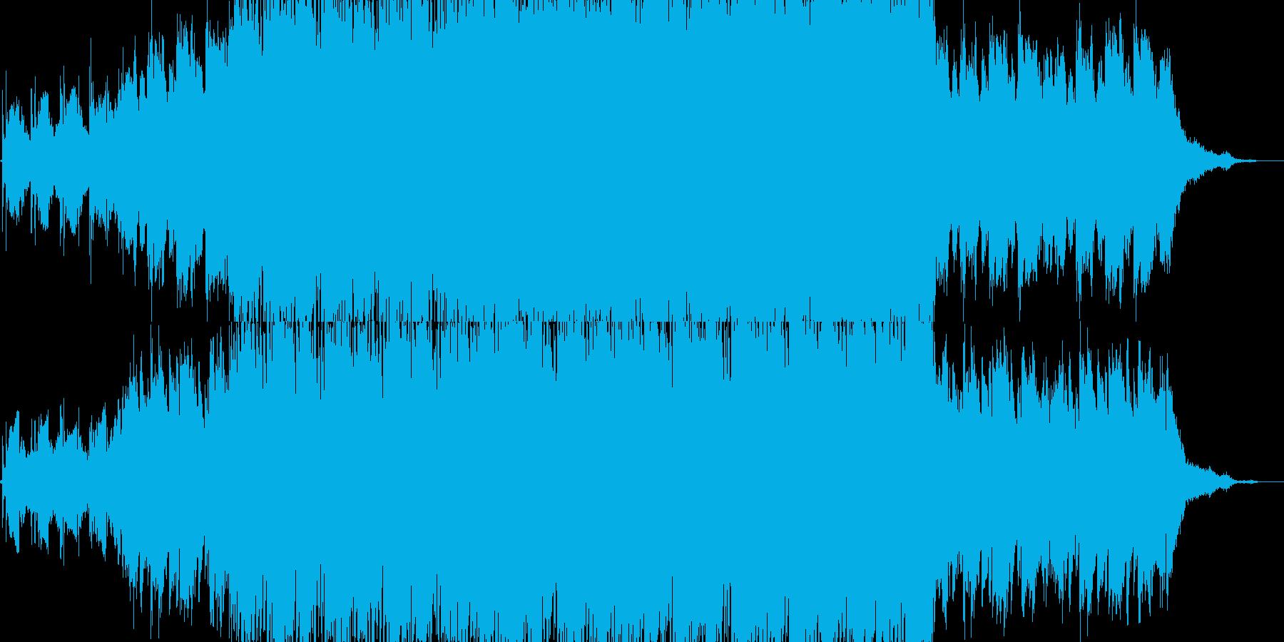廃退的で悲しげなBGMの再生済みの波形