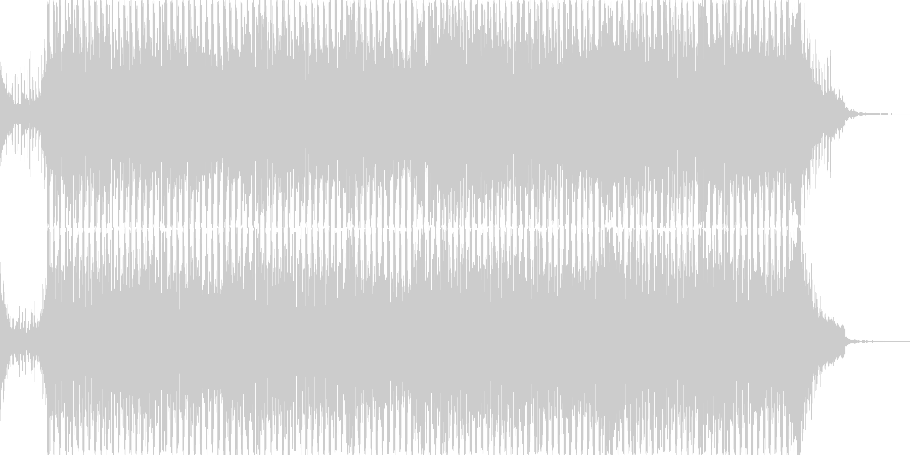 壮大なピアノとストリングスの軽めのテクノの未再生の波形